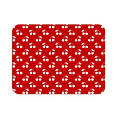 White Cherries On White Red Double Sided Flano Blanket (Mini)