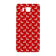 White Cherries On White Red Samsung Galaxy Alpha Hardshell Back Case