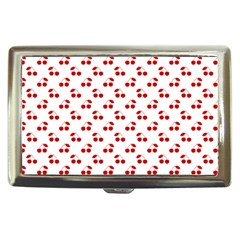 Red Cherries On White Pattern   Cigarette Money Cases