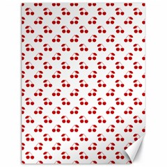 Red Cherries On White Pattern   Canvas 18  x 24