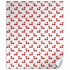 Red Cherries On White Pattern   Canvas 20  x 24