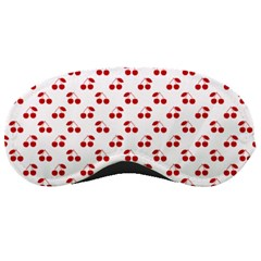 Red Cherries On White Pattern   Sleeping Masks