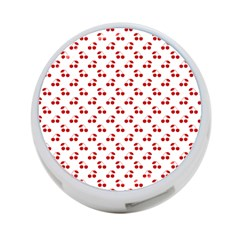 Red Cherries On White Pattern   4-Port USB Hub (Two Sides)