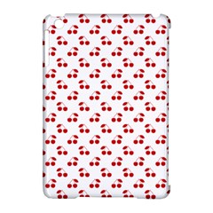 Red Cherries On White Pattern   Apple iPad Mini Hardshell Case (Compatible with Smart Cover)