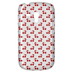 Red Cherries On White Pattern   Galaxy S3 Mini