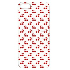 Red Cherries On White Pattern   Apple Iphone 5 Hardshell Case With Stand