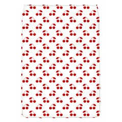 Red Cherries On White Pattern   Flap Covers (S)