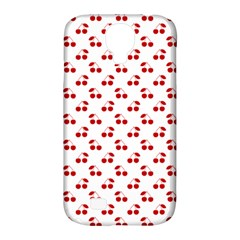 Red Cherries On White Pattern   Samsung Galaxy S4 Classic Hardshell Case (PC+Silicone)
