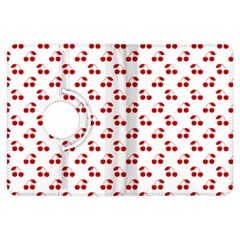 Red Cherries On White Pattern   Kindle Fire HDX Flip 360 Case