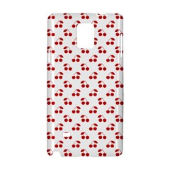 Red Cherries On White Pattern   Samsung Galaxy Note 4 Hardshell Case