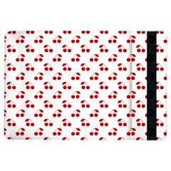 Red Cherries On White Pattern   iPad Air 2 Flip