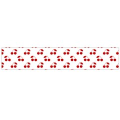 Red Cherries On White Pattern   Flano Scarf (Large)