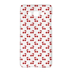 Red Cherries On White Pattern   Samsung Galaxy A5 Hardshell Case