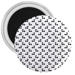 Black Cherries On White  3  Magnets
