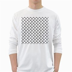 Black Cherries On White  White Long Sleeve T-Shirts