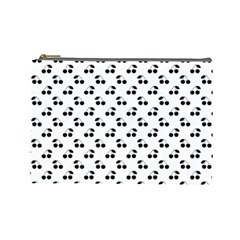 Black Cherries On White  Cosmetic Bag (Large)