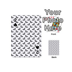 Black Cherries On White  Playing Cards 54 (Mini)