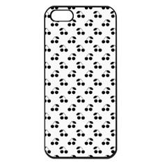 Black Cherries On White  Apple iPhone 5 Seamless Case (Black)