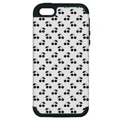 Black Cherries On White  Apple iPhone 5 Hardshell Case (PC+Silicone)