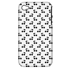 Black Cherries On White  Apple iPhone 4/4S Hardshell Case (PC+Silicone)