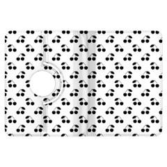 Black Cherries On White  Kindle Fire HDX Flip 360 Case