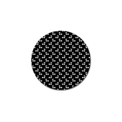 White Cherries On Black Golf Ball Marker
