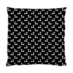 White Cherries On Black Standard Cushion Case (Two Sides)