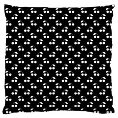 White Cherries On Black Standard Flano Cushion Case (Two Sides)