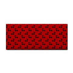 Black Cherries On Red Cosmetic Storage Cases
