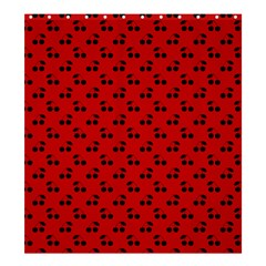 Black Cherries On Red Shower Curtain 66  x 72  (Large)