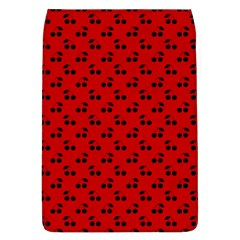 Black Cherries On Red Flap Covers (L)