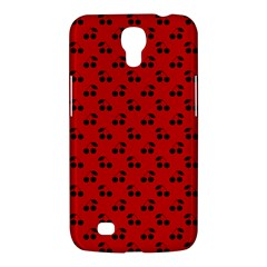 Black Cherries On Red Samsung Galaxy Mega 6.3  I9200 Hardshell Case