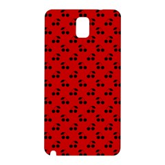 Black Cherries On Red Samsung Galaxy Note 3 N9005 Hardshell Back Case