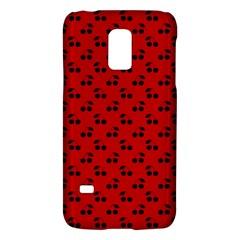 Black Cherries On Red Galaxy S5 Mini