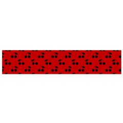 Black Cherries On Red Flano Scarf (Small)