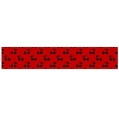 Black Cherries On Red Flano Scarf (Large)