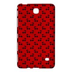 Black Cherries On Red Samsung Galaxy Tab 4 (7 ) Hardshell Case