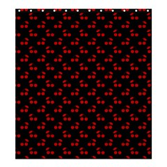 Red Cherries On Black Shower Curtain 66  x 72  (Large)