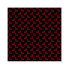 Red Cherries On Black Acrylic Tangram Puzzle (6  x 6 )