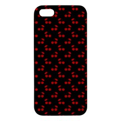 Red Cherries On Black Apple iPhone 5 Premium Hardshell Case