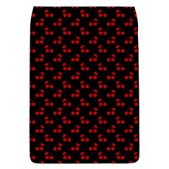 Red Cherries On Black Flap Covers (L)