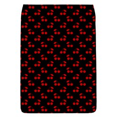 Red Cherries On Black Flap Covers (s)