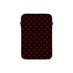 Red Cherries On Black Apple iPad Mini Protective Soft Cases