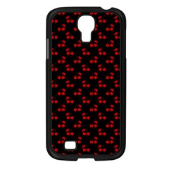 Red Cherries On Black Samsung Galaxy S4 I9500/ I9505 Case (Black)