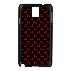 Red Cherries On Black Samsung Galaxy Note 3 N9005 Case (Black)