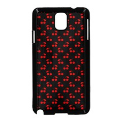 Red Cherries On Black Samsung Galaxy Note 3 Neo Hardshell Case (Black)