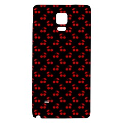 Red Cherries On Black Galaxy Note 4 Back Case