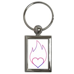 Heart Flame Logo Emblem Key Chains (rectangle)