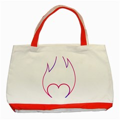 Heart Flame Logo Emblem Classic Tote Bag (red)