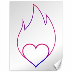 Heart Flame Logo Emblem Canvas 36  X 48